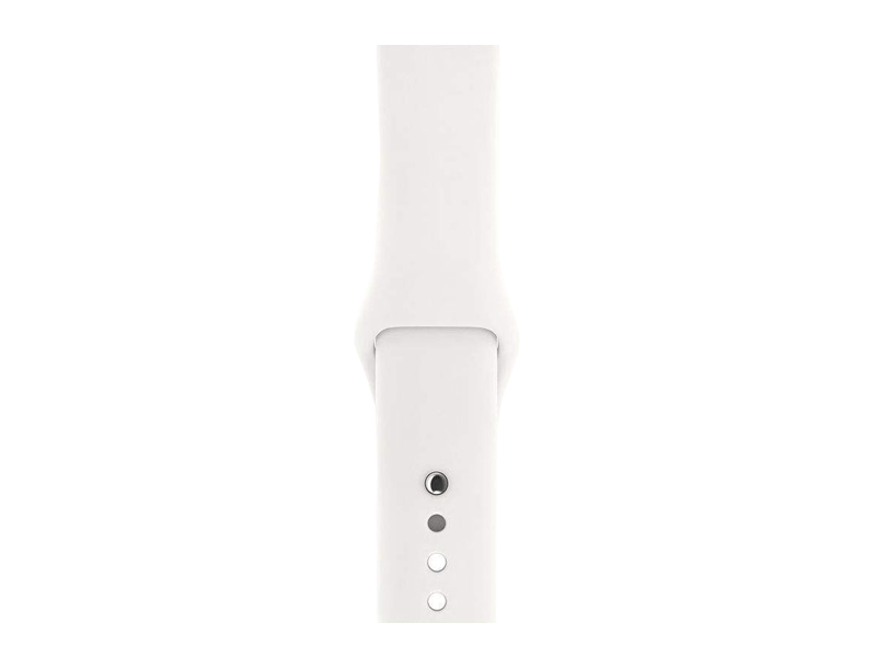 اپل واچ سری3 / Silver Aluminum Case 42mm با بند White Sport Band