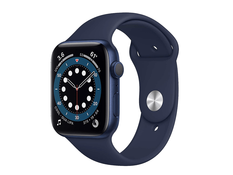 اپل واچ سری 6 /Blue aluminum case 44mm silicone band