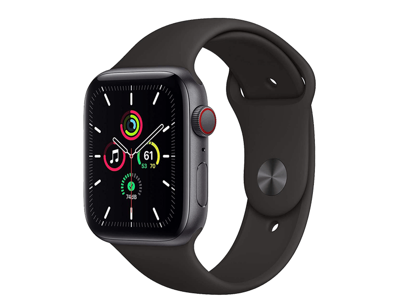 اپل واچ سری SE مدل   Black 44mm Aluminum Case silicone band