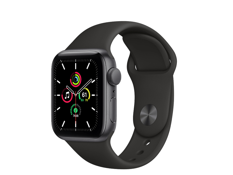 اپل واچ سری SE مدل   Black 40mm Aluminum Case silicone band