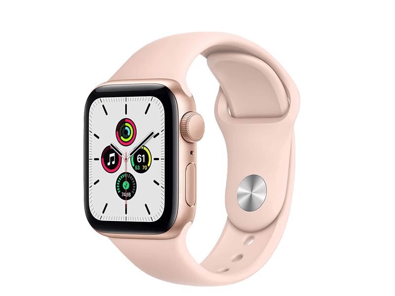 اپل واچ سری SE مدل   Gold 40mm Aluminum Case silicone band